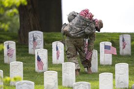 Photos: Army's Old Guard place Memorial Day flags at Arlington National Cemetery